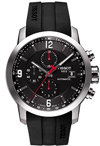 6f364261aaa Tissot Tissot PRC 200 AUTOMATIC BLACK DIAL BLACK RUBBER Mens Watch  T0554271705700  goldia  Amazon.co.uk  Watches