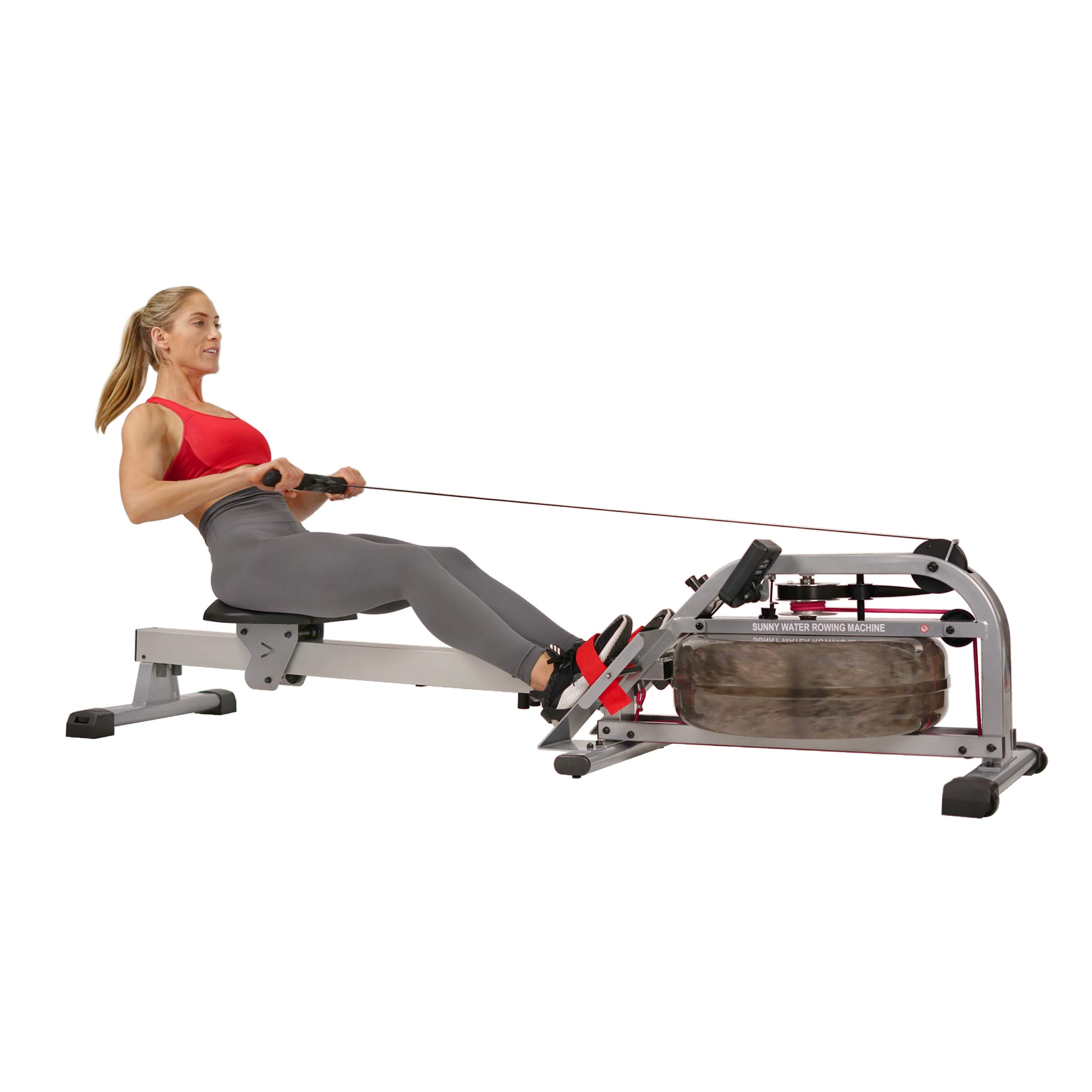 Sunny Health & Fitness Water Rowing Machine Rower w/LCD Monitor - SF-RW5866 by Sunny Health & Fitness (Image #1)