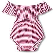 BFUSTYLE Unisex Newborn Infant Cool Mermaid Ruffle T Shirt Little Kids Jumpsuit Short Sleeves Dress Baby Girl 100% Cotton One-Piece Bodysuit Rompers Sunsuit