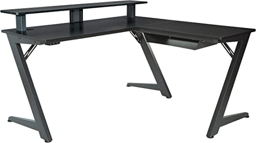 OSP Home Furnishings Avatar Battlestation L-Shape Gaming Desk