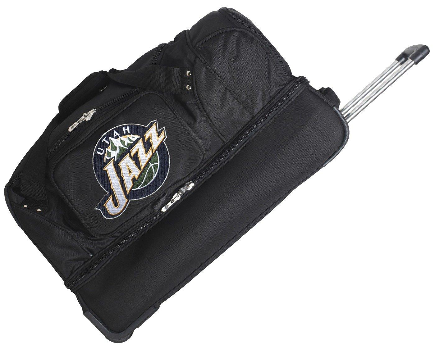 NBA 27'' 2-Wheeled Travel Duffel NBA Team: Utah Jazz by Denco Sports Luggage
