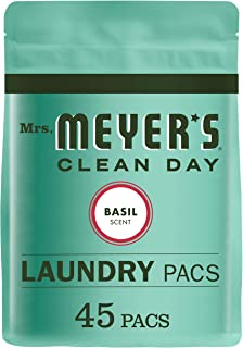 product image for Mrs. Meyer's Clean Day Laundry Detergent Pacs, Biodegradable Formula, Ready to Use Pods, Basil Scent, 45 Count