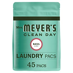 Mrs. Meyer's Laundry Packs, Basil, 45 CT