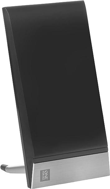 One For All SV9335, Antena de TV Amplificada para Interior, Recibe TDT en un rango de 15km, Antena Ultra HDTV Digital, Incluye Cable Coaxial de Alto Rendimiento, VHF/UHF, negra: Amazon.es: Electrónica