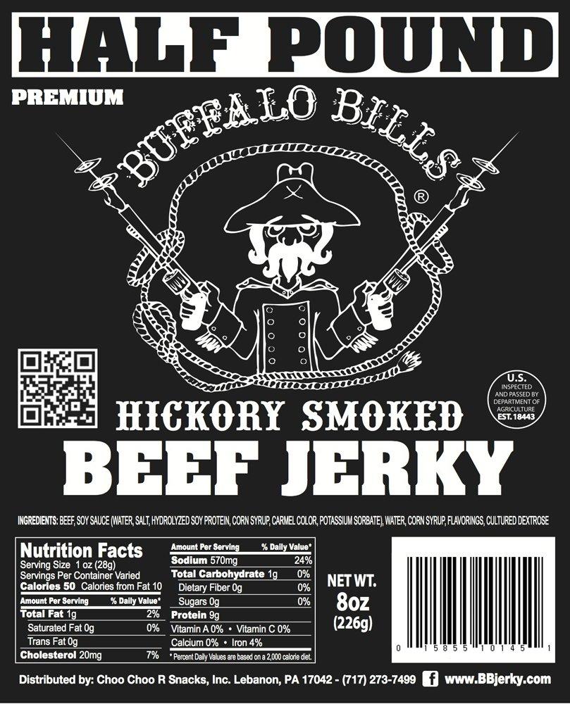 Buffalo Bills 8oz Premium Hickory Beef Jerky Pieces (hickory smoked jerky in random size pieces) by Buffalo Bills (Image #3)