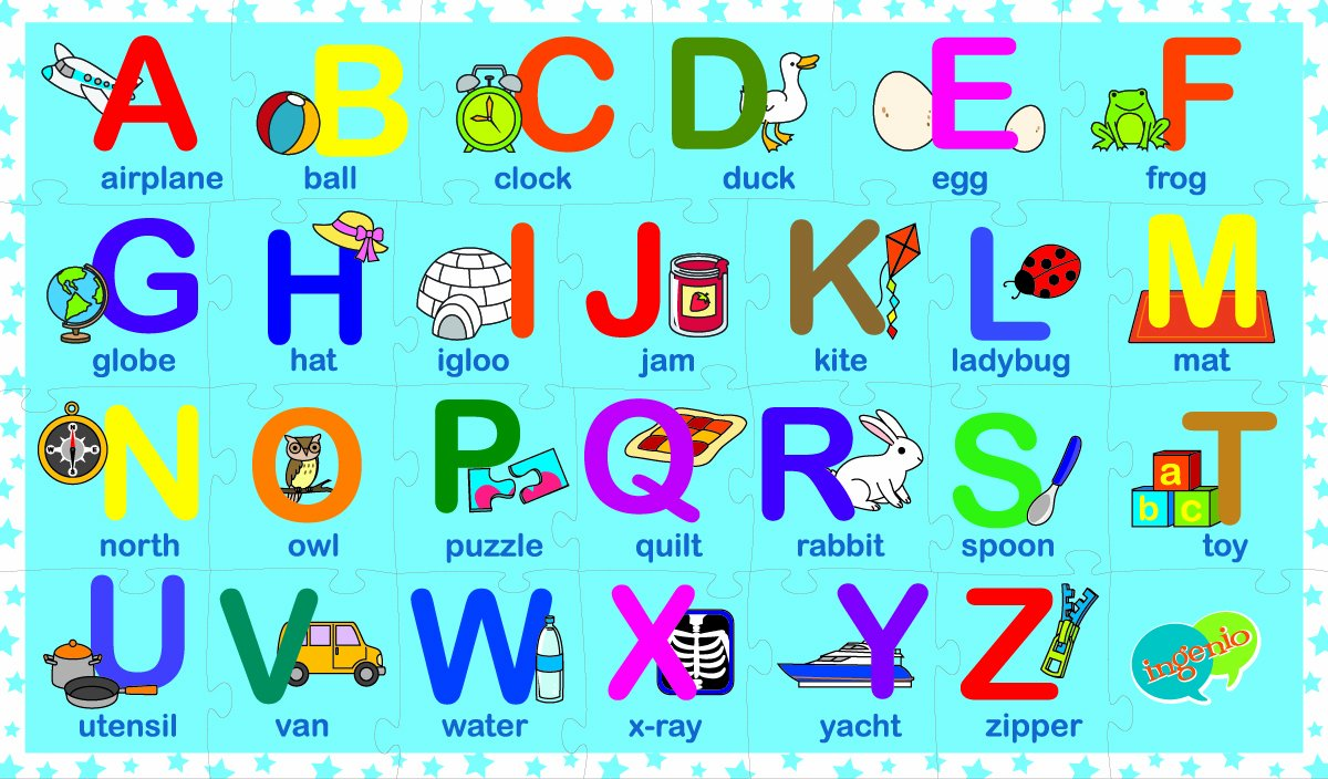 Ingenio Reversible Alphabet Puzzle Smart Play 31113 English And French