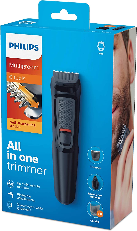 Philips MULTIGROOM Series 3000 Cara 6 en 1 MG3710/15 - Afeitadora ...