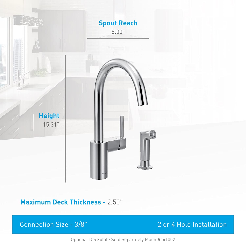 Moen 7565 Align e Handle High Arc Pulldown Kitchen Faucet