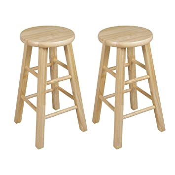 Super Pj Wood 24 Inch Bar Stool Natural Beatyapartments Chair Design Images Beatyapartmentscom
