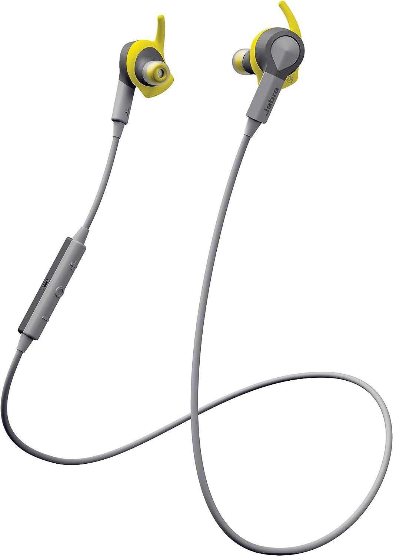 Jabra Sport Coach Audífono Intrauricular Deportivo Inalámbrico Bluetooth para Entrenamiento Deportivo con Capacitación de Audio Inteligente - Amarillo/Gris