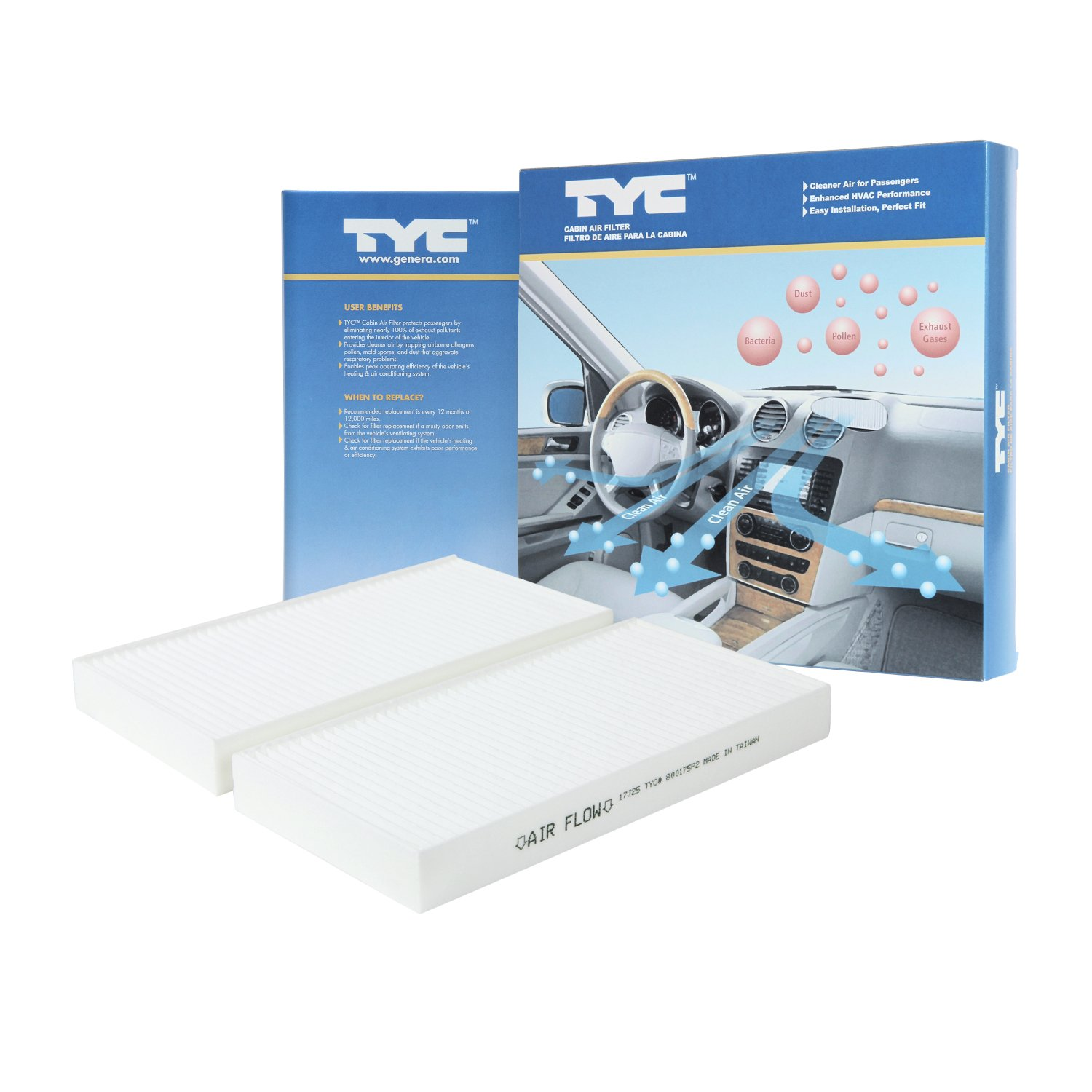 TYC 800175P2 Replacement Cabin Air Filter