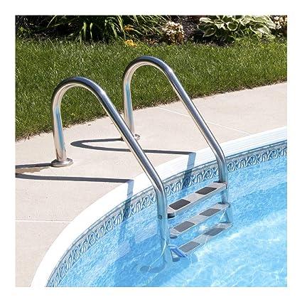 Amazon.com: Escalera de piscina de 3 pasos de acero ...