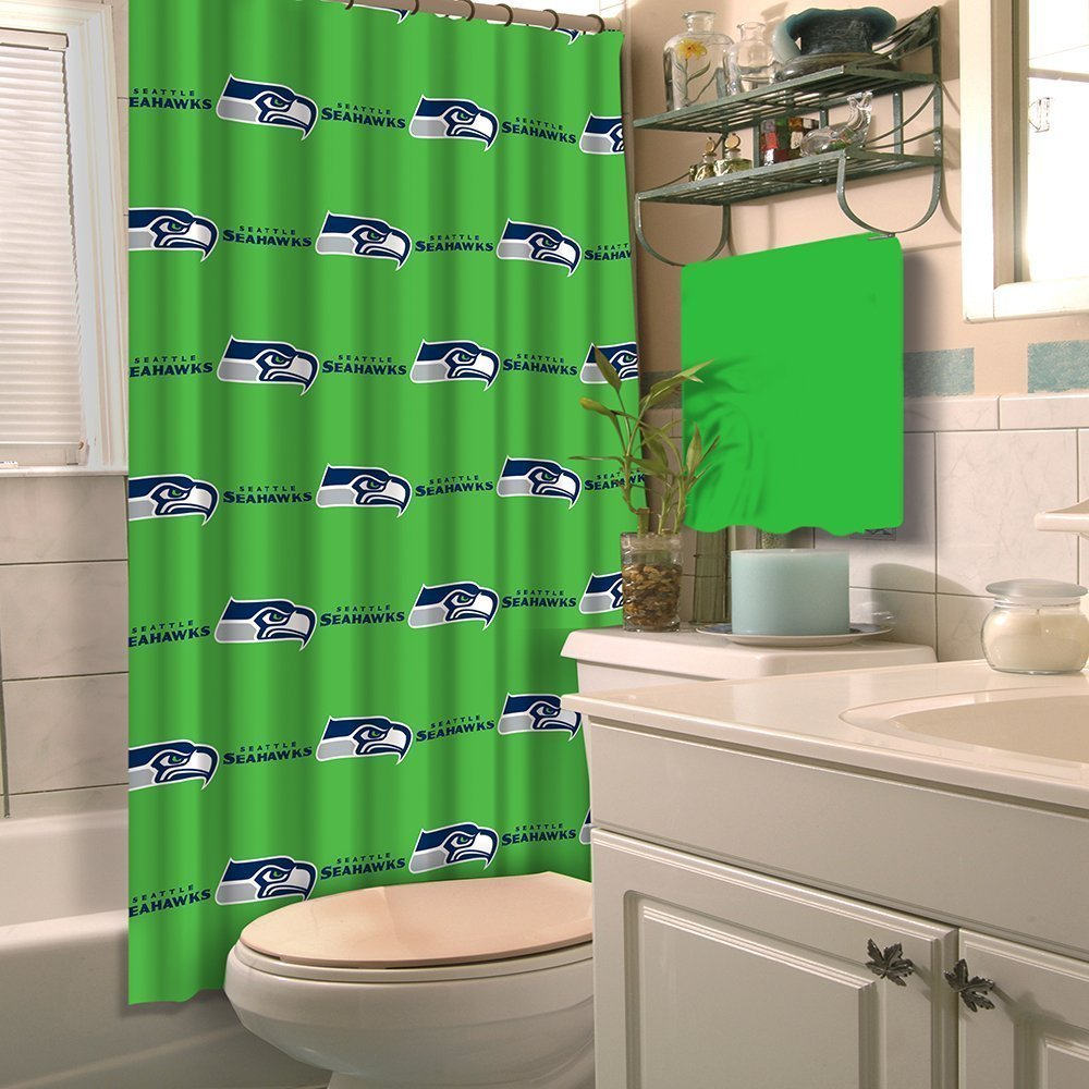 Soccer Bathroom Accessories Amazoncom Nfl Seahawks 6pc Bathroom Accessories Set Home Kitchen