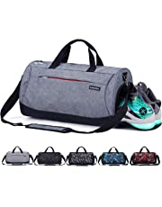 7ed366835073 CoCoMall Sports Gym Bag with Shoes Compartment and Wet Pocket