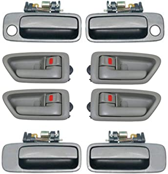 Amazon Com Compatible Replacement For Toyota 1997 2001 Camry 4 Beige Exterior Outer Outside And 4 Sage Interior Inner Inside Door Handle 8pcs 1997 1998 1999 2000 2001 Ds04 Automotive