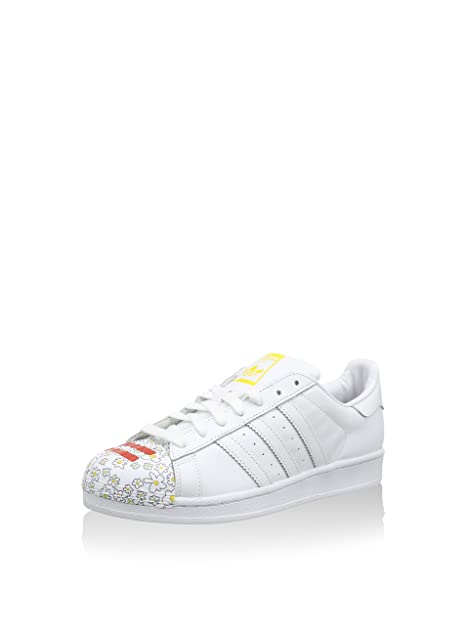 adidas Superstar Pharrell, Zapatillas para Hombre, Blanco/Amarillo, 44 EU: Amazon.es: Zapatos y complementos