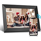 Jeemak Digital Picture Frame 10.1 inch WiFi Photo Frame with HD Touch Screen Auto-Rotate Share Photos and Videos via App…