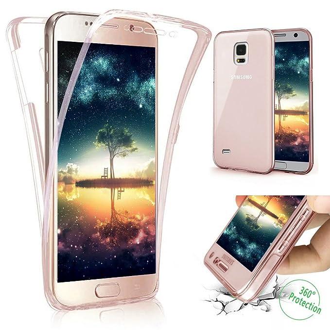 Kompatibel mit Galaxy S4 Hülle Schutzhülle Case,Full-Body 360 Grad Klar Durchsichtige TPU Silikon Hülle Handyhülle Tasche Cas