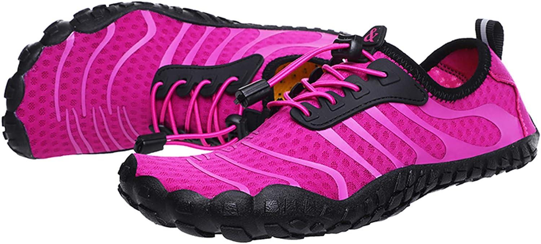 Lvptsh Chaussure Aquatique Homme Femme Barefoot Chaussures deau de Sport Chaussures de Plage Antid/érapant S/échage Rapide Surf Snorkeling Randonn/ée Chaussons de Plong/ée