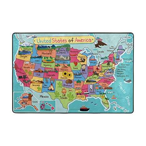 Amazoncom My Daily Cartoon Map Of United States Of America Area - Cartoon-map-of-the-us