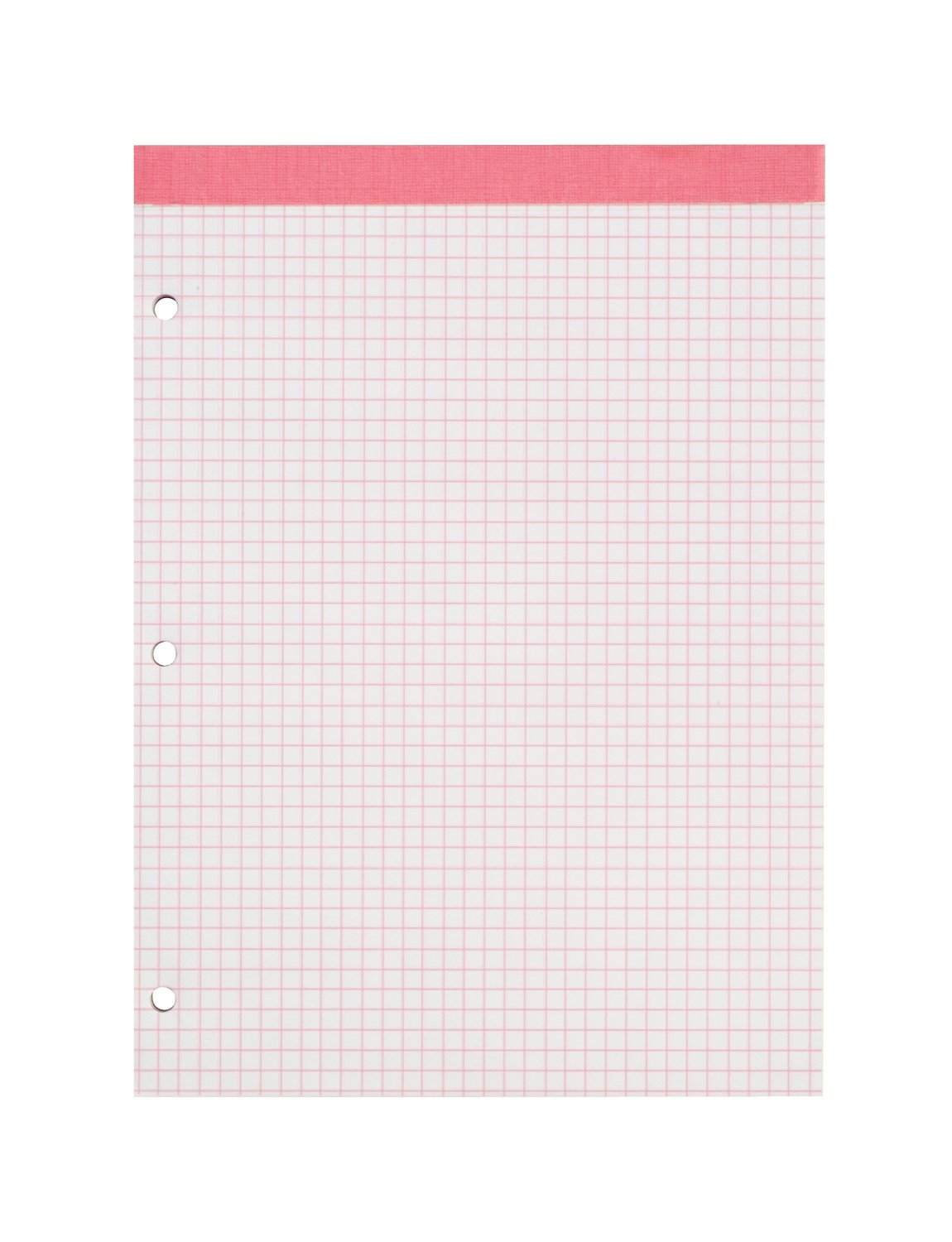 Ampad 20-287, Evidence Dual Pads, Letter Size, Pink Ruling 4 sq. / In. 100 Sheets Per Pad, 1 Each
