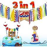 Amazon.com: Decoración para fiesta de primer cumpleaños 3 en ...