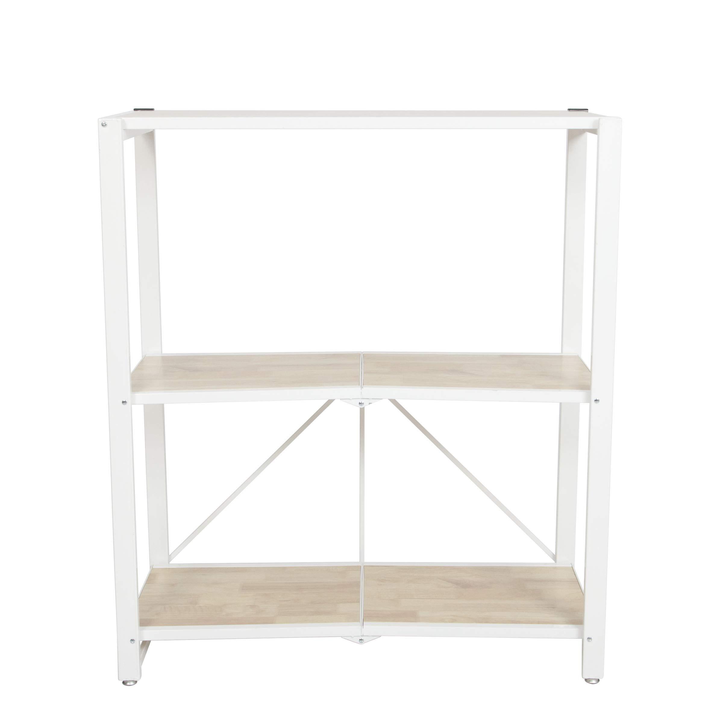 Origami Folding 4-Tier Heavy Duty Steel Baker's Rack with Wood Shelf, White by Origami (Image #6)