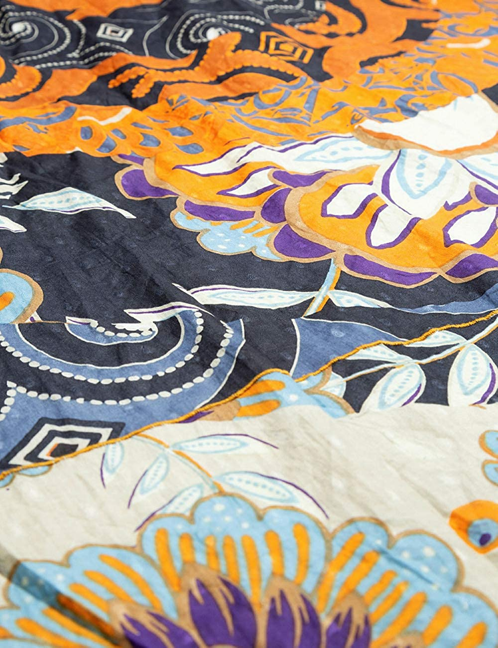 Unica Taglia Produttore: U Desigual Foul/_New Prints On The Block Sciarpa Nero Donna Blue Moon 2051