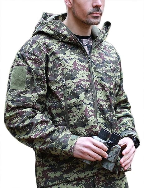 Chaqueta Flychen de hombre para caza, impermeable, diseño con patrón de camuflaje, Hombre