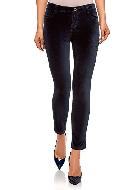 852fb6197 oodji Ultra Mujer Pantalones Ajustados de Tejido de Terciopelo  Amazon.es   Ropa y accesorios