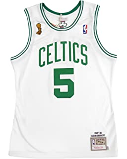 fbcff6106 Mitchell   Ness Kevin Garnett 2007-08 Boston Celtics Authentic Finals  Jersey White