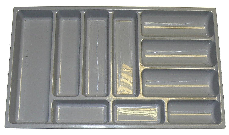 Alta calidad bandeja de cajón para cubiertos para adaptarse a la mayoría de 80 cm/800 mm cajones. Heavy Duty Gris Plástico 714 mm de ancho x 422 mm de ...