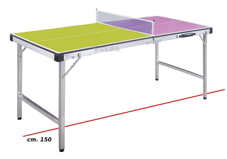 ODG - Mesa Ping Pong Plegable con Red y Raquetas de Madera y Metal ...