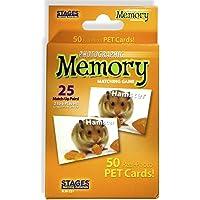 Stage Learning Juego de tarjeta de memoria con fotos reales, juego de concentración , Mascotas, Anaranjado, Size 5 x 3
