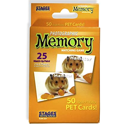 Stages Learning Materials Picture Memory Pets Card Game Real Photo Concentration For Home Family