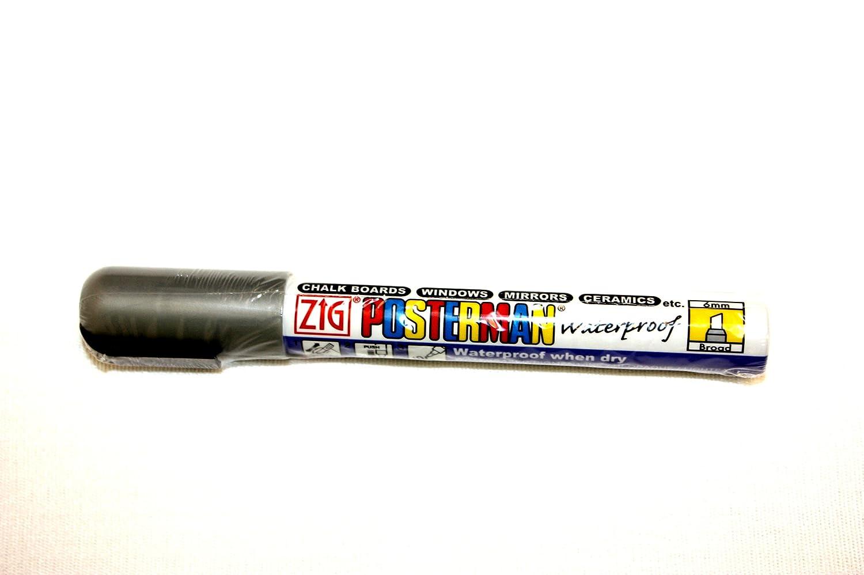 Posterman Glasschreiber 5 mm silber wasserfest