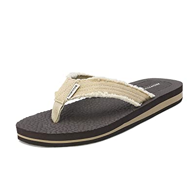 ad50142a7519 NORTIV 8 Men s 181111M Beige Flip Flop Sandals Thong Summer Beach Sandal  Size 7 ...