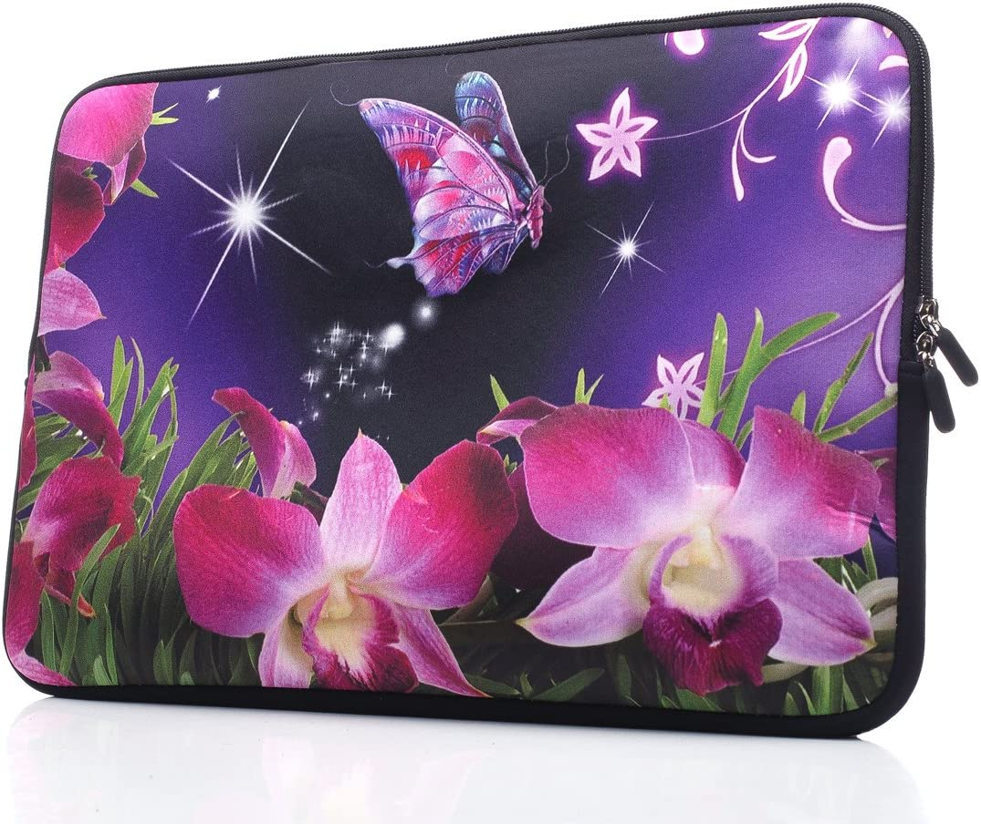 15-Inch to 15.6-Inch Laptop Sleeve Carrying Case Neoprene Sleeve for Acer/Asus/Dell/Lenovo/MacBook Pro/HP/Samsung/Sony/Toshiba, Pink Flower
