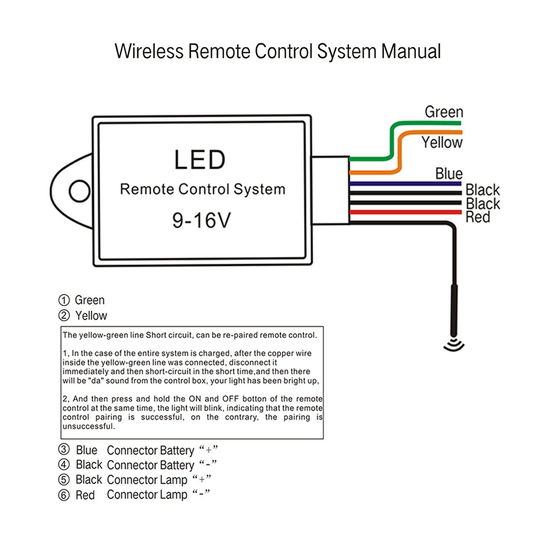 led light bar remote wiring harness/wireless remote wiring harness for led  light bar/