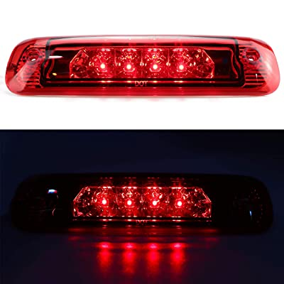 For 1997-2001 Jeep Cherokee LED 3rd Third Brake Light Center High Mount Lamp Rear Tail Light (Red Lens): Automotive