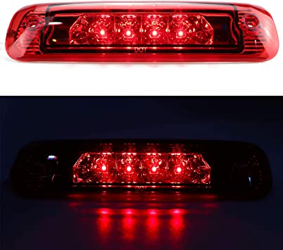 Amazon Com For 1997 2001 Jeep Cherokee Led 3rd Third Brake Light Center High Mount Lamp Rear Tail Light Red Lens Automotive