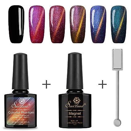 Chameleon - Juego de esmaltes magnéticos para uñas, 6 colores, 10 ml