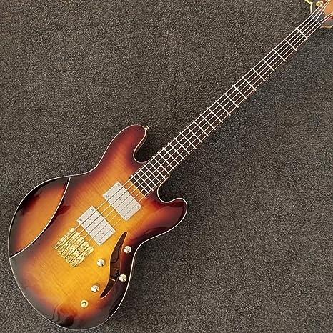 Guitarra eléctrica de 41 pulgadas con 5 cuerdas, color CS, parte ...