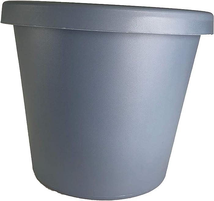 """The HC Companies LIA24000DE2C006LRCLE Classic Pot Planter, 24"""", Slate Blue"""