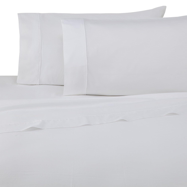 Full WestPoint Home Martex 028828293121 T300 Luxe Sateen Sheet Set White