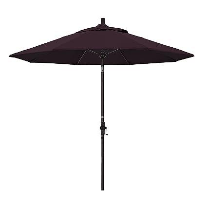Captivating California Umbrella 9u0027 Round Aluminum Pole Fiberglass Rib Market Umbrella,  Crank Lift, Collar