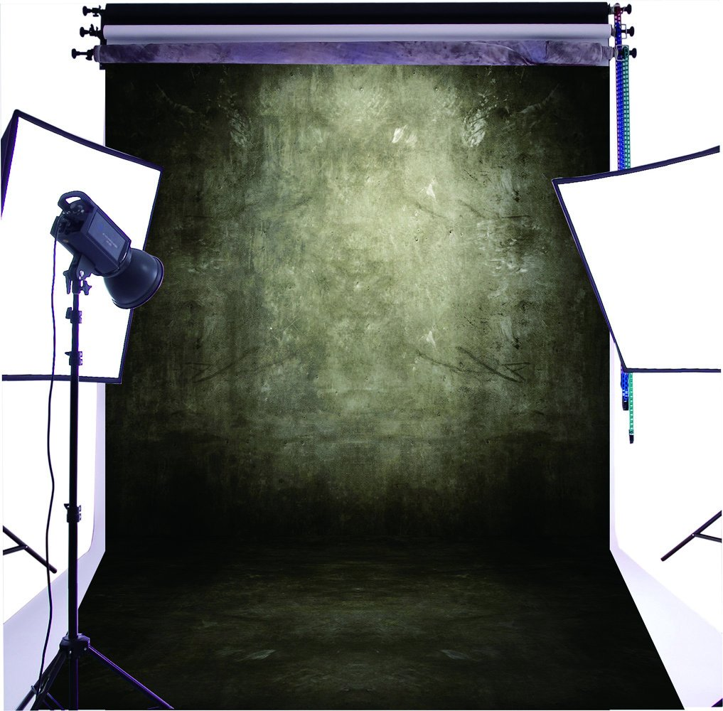 Duluda Black retro theme 5X7FT Indoor Studio Photography Background Computer-printed Poly Fabric Seamless Backdrop GMT03