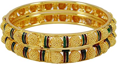 18K Gold Plated Ethnic Bollywood Traditional Women Bracelet Designer Jewelry