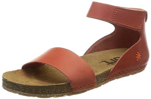 CRETA - Sandalias de vestir de cuero para mujer, color marrón, talla 40 Art