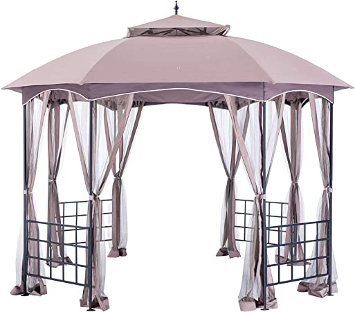 Sunjoy L-GZ660PST-D Canopy Set Replacement for Big Lots